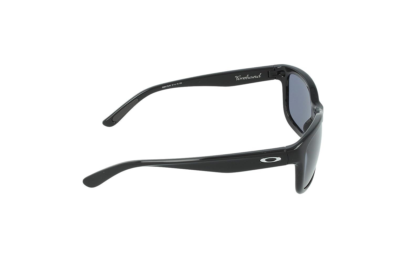 983a6ec521a633 Amazon.com  Oakley Forehand OO9179-01 Oversized Sunglasses,Polished Black,One  size  Clothing