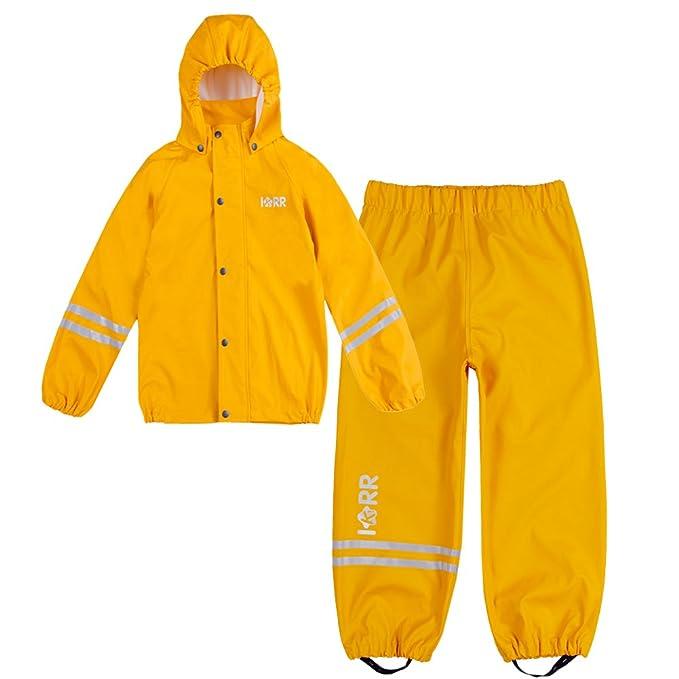 b4b5da7e4204 IKRR - Giacca impermeabile - università - Uomo Gelb 4 anni  Amazon.it   Abbigliamento