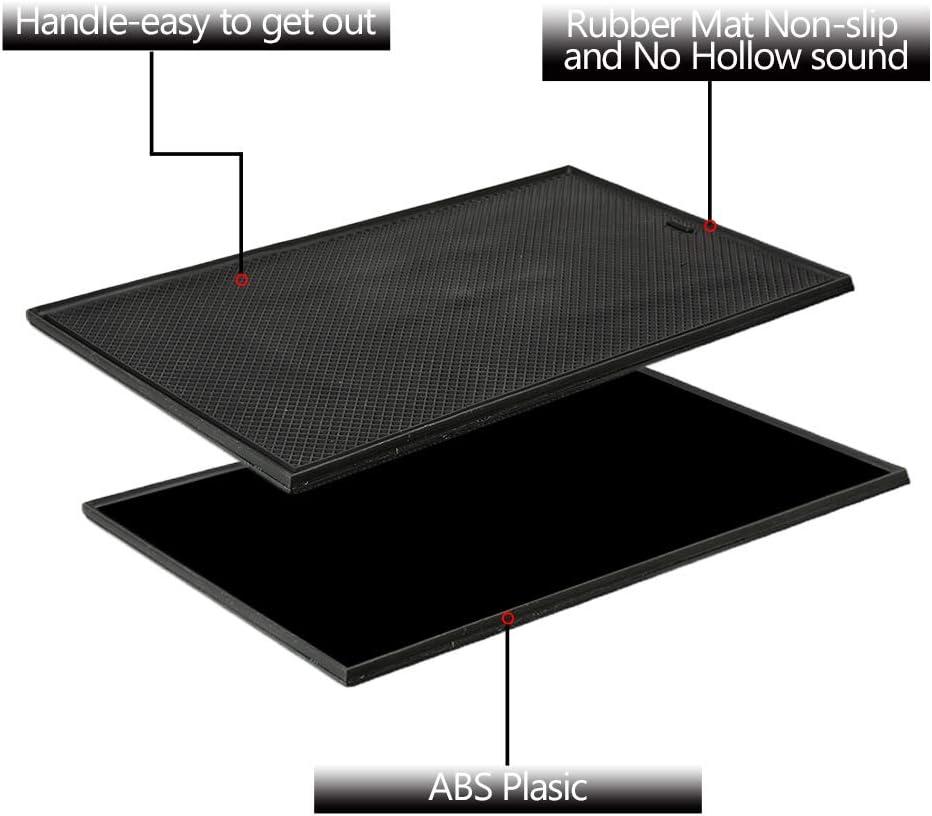SpeeVech Center Console Organizer Tray,Compartment Cover for 2014-2018 GMC Sierra 1500 2500HD 3500HD Denali Chevy Silverado Hidden Accessories