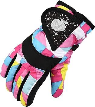 Eastlion niños esquí Guantes algodón Invierno Engrosamiento fría Deportes Impermeable Resistente al Viento Nieve Manoplas para niños y niñas: Amazon.es: Deportes y aire libre
