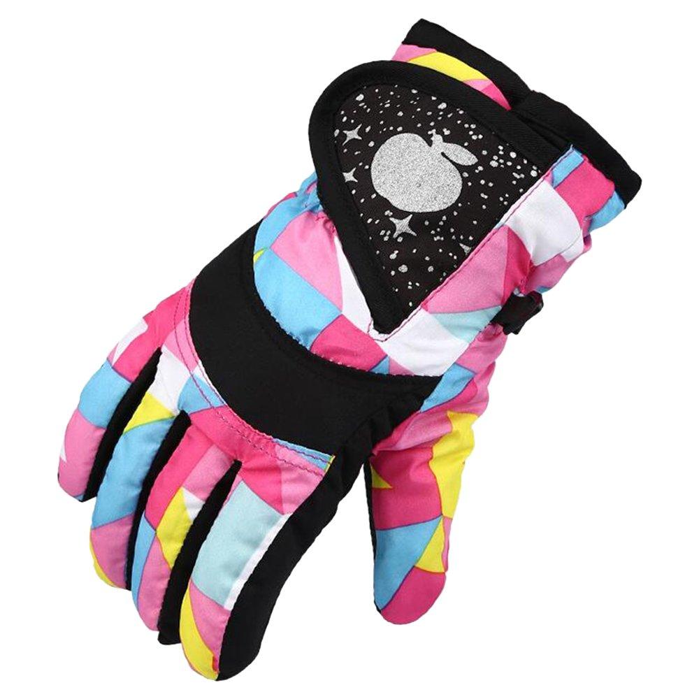 Eastlion Kinder Skifahren Handschuhe Verdickung Winter Baumwolle Kalt Sport Wasserdichte Winddichte Schnee Fäustlinge für Jungen und Mädchen