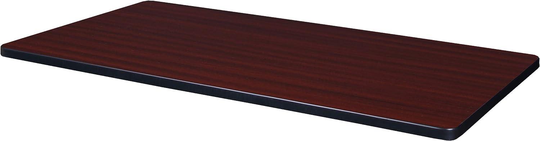 Regency Rectangular Standard Table Top, 42 x 24, Mahogany/Mocha Walnut