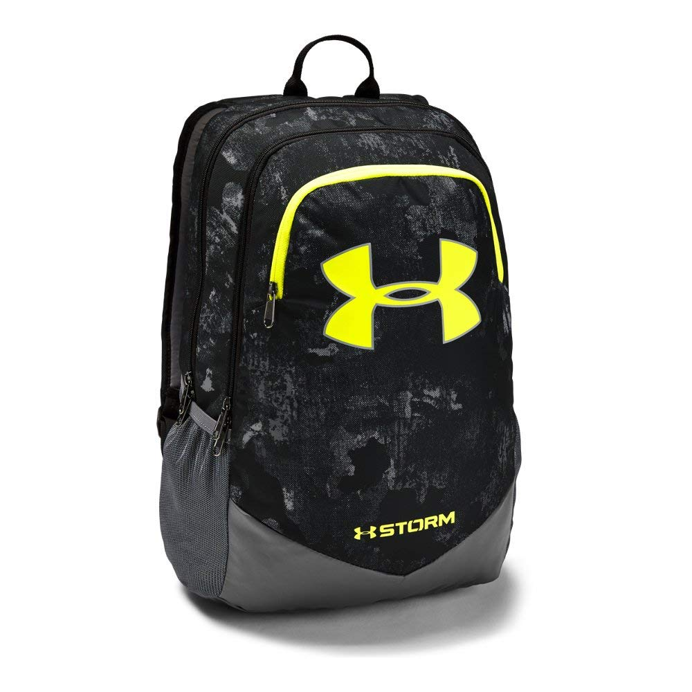 Under Armour Boy's Storm Scrimmage Backpack, Black (005)/High-Vis Yellow, One Size