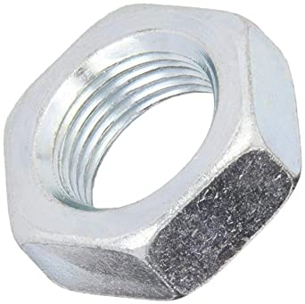 1//2-13 Thread Size Grade 2 ASME B18.2.2 3//4 Width Across Flats Zinc Plated Finish Steel Hex Jam Nut Pack of 100 5//16 Thick