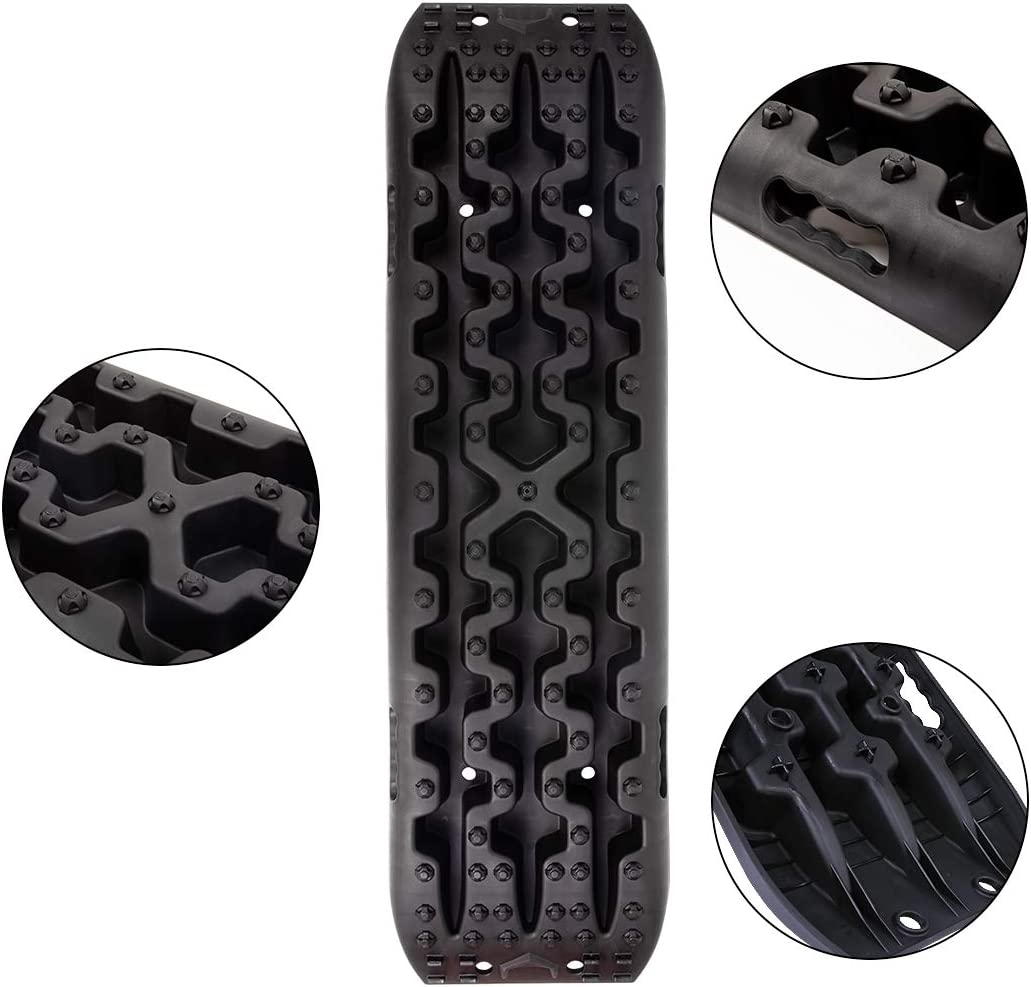 Black X-BULL New Recovery Traction Tracks Sand Mud Snow Track Tire Ladder 4WD