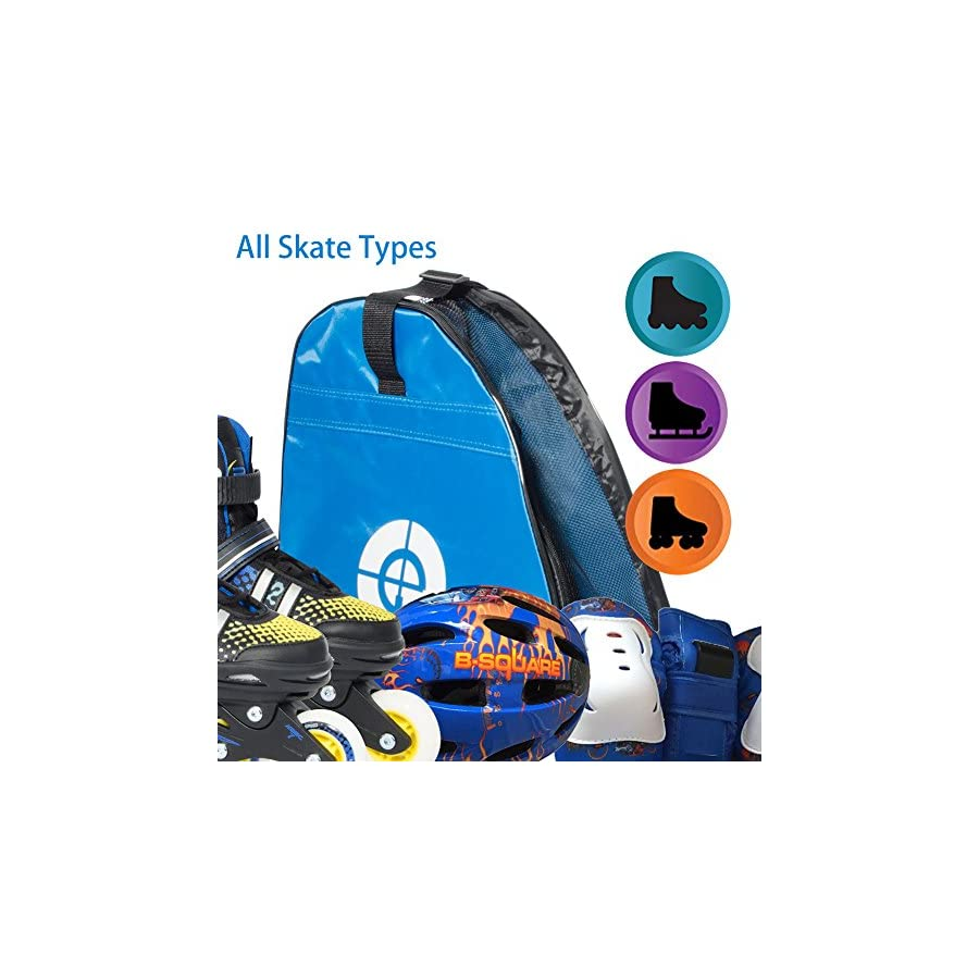 R SPEED Inline Skates Bag, Double Shoulders, Oxford Cloth Bag to Carry Ice Skates, Roller Skates, Inline Skates for Both Kids and Adults,Easy and Convenient