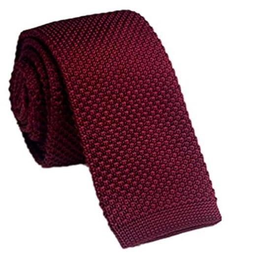 Goodvk Corbata de Hombre Punto Lazo Hombres y Mujeres Color sólido ...