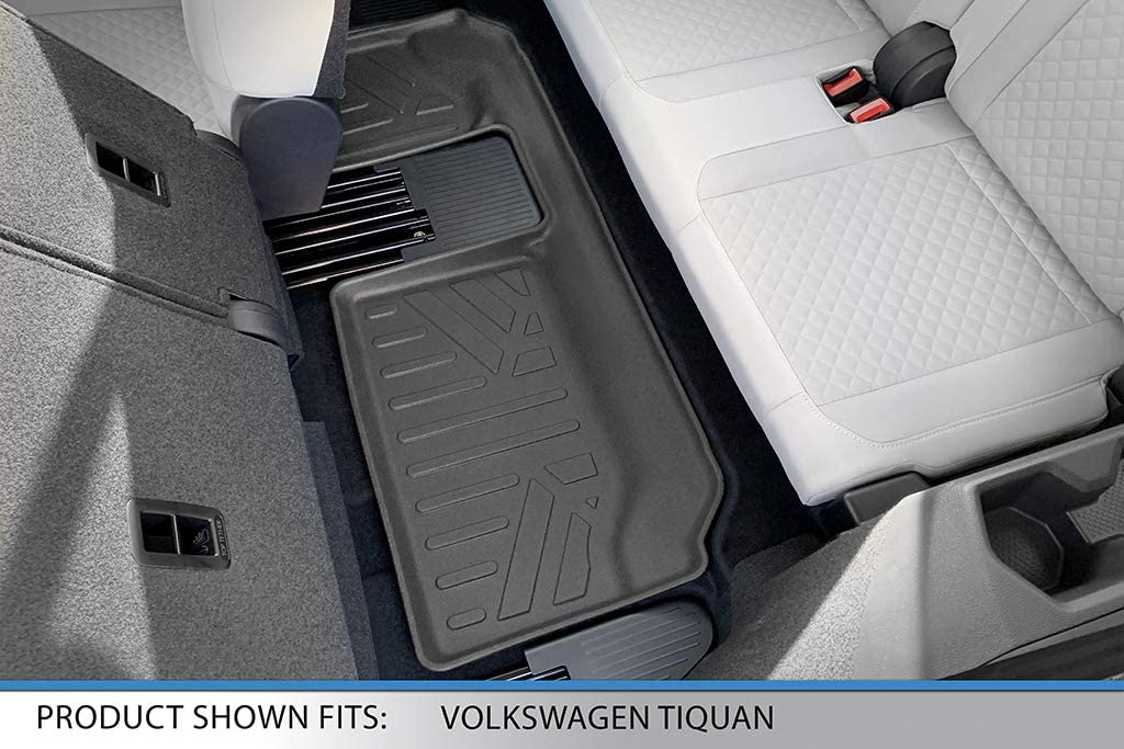 SMARTLINER Custom Fit Cargo Trunk Liner Floor Mat Behind 3rd Row Black for 2018-2019 Volkswagen Tiguan with 3rd Row Seats