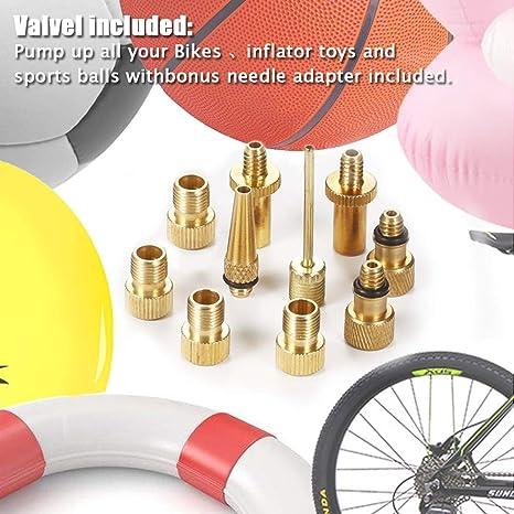 ZOEON 14pcs Adaptador para Bombas de Bicicleta Válvula Adaptador, DV AV SV Válvula Adaptador para Compresor: Amazon.es: Deportes y aire libre