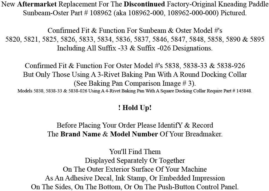Amazon.com: Oster Pan máquina Paddle Modelo 5838 – 026 ...