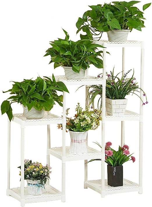 Chairs FL Estantes para Plantas/estanteria Jardin Soporte de Flores de plástico Estante de Flores de múltiples Capas Sala de Estar de balcón de pie estanterias de Jardin: Amazon.es: Hogar