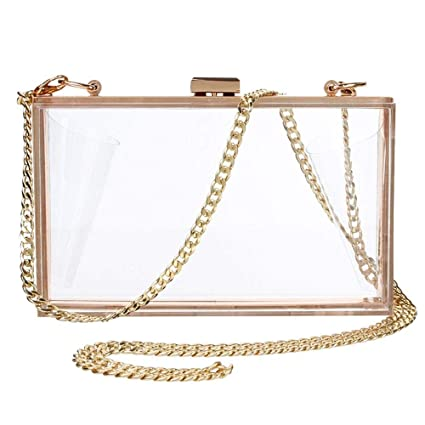 Amazon.com  Womens Cute Clear Acrylic Clutches Purse Fashion Evening Box Clutch  Crossbody Purse Evening Bag for Party Travel Daily Use (Clear)  KYIS 36cee986142d
