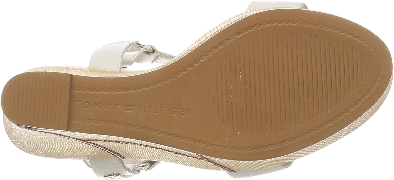 Plateforme Femme Tommy Hilfiger Elevated Leather Wedge Sandal