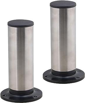 4 patas de metal ajustables de acero inoxidable para muebles de cocina (15 cm) (150 mm)