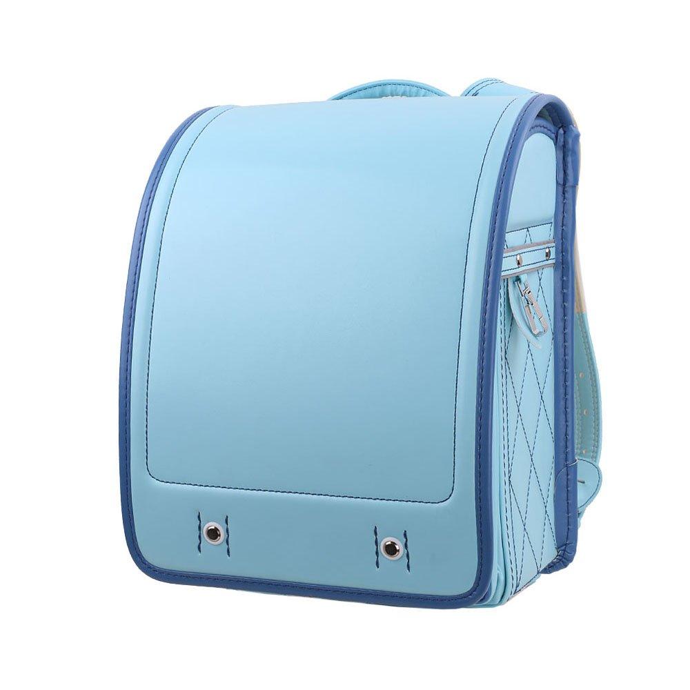 LOONTS ランドセル 通学鞄 schoolbag A4クリアファイル 男の子 女の子 小学生 防水 6年間保証 B07BMRDN68 ブルーライン ブルーライン