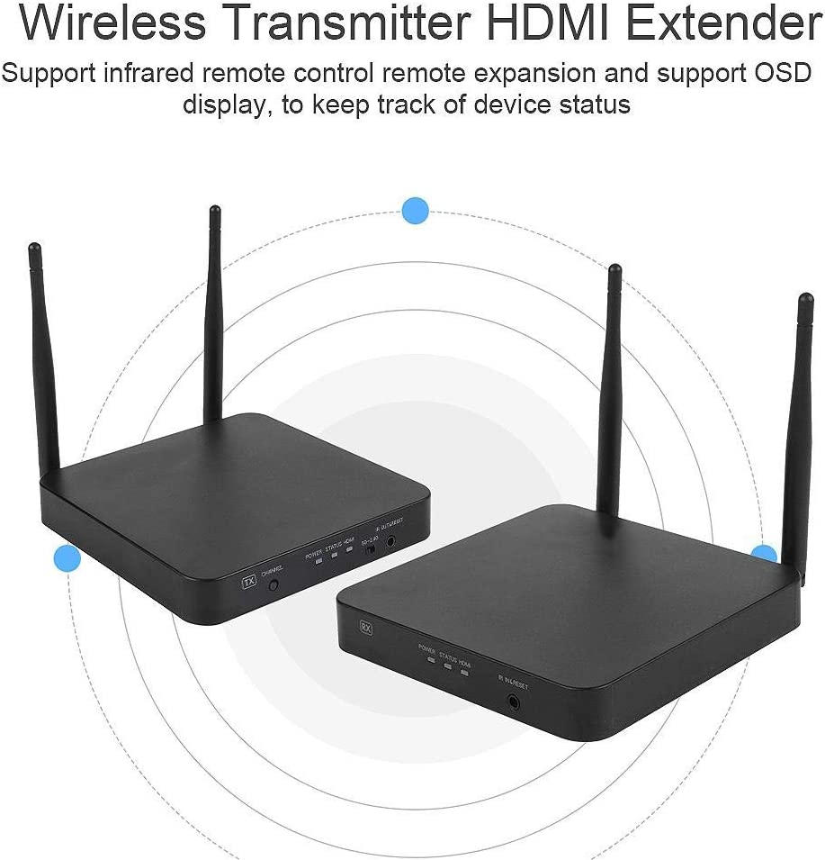 Xinwoer HDMI Extender Wireless Transmitter Receiver HDMI Extender 2.4G//5G 1080P Support Remote Control for Home Video,Conference,Outdoor Display,Multimedia Engineering