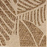 Gertmenian 21582 Space Outdoor Rug Patio Area Carpet, 5x7 Standard Abstract Leaf Gold