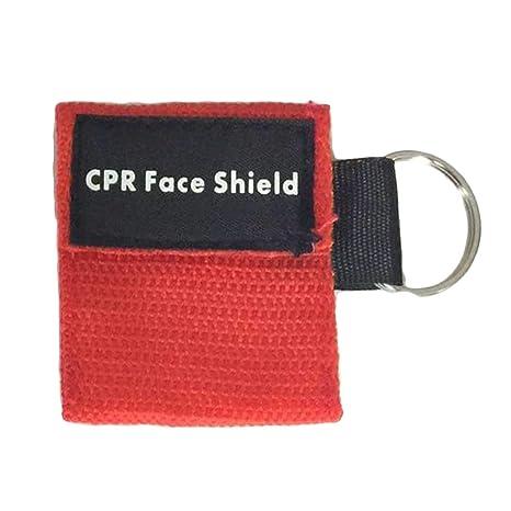 2pcs portátil primeros auxilios mini máscara llavero CPR ...