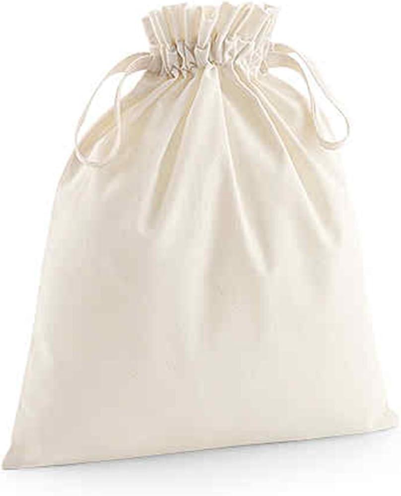 Westford Mill algodón orgánico Bolsa de cordón de Tejido Doble cordón Cierre 100% Suave algodón orgánico, algodón, Natural, Small: Amazon.es: Hogar
