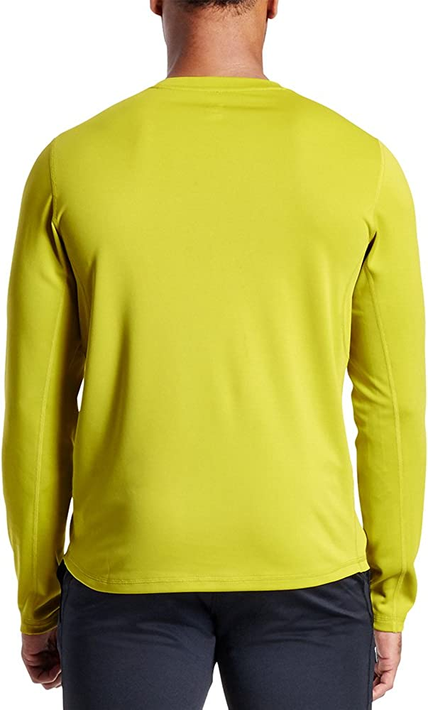 Mission Mens VaporActive Alpha Long Sleeve Athletic Shirt Medium Citronelle
