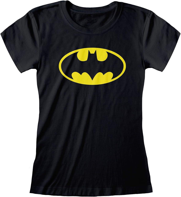 Merchandise Ufficiale DC Comics Batman Classic Logo Donne Equipaggiata T-Shirt/