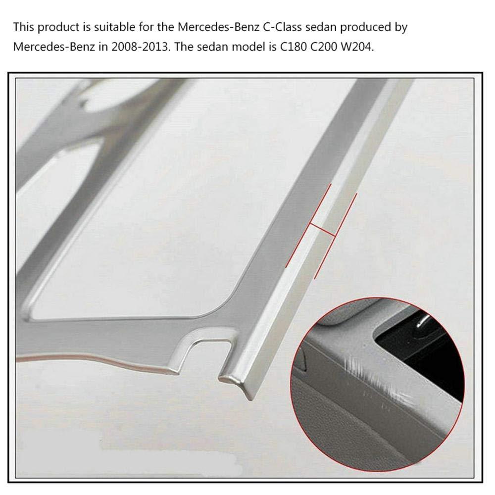 con Cinta autoadhesiva Mejora el Aspecto Interior Funda Decorativa para reposabrazos de Carbono para Mercedes-Benz Clase C Sed/án en 2008-2013 Volwco Cubre y Evita ara/ñazos