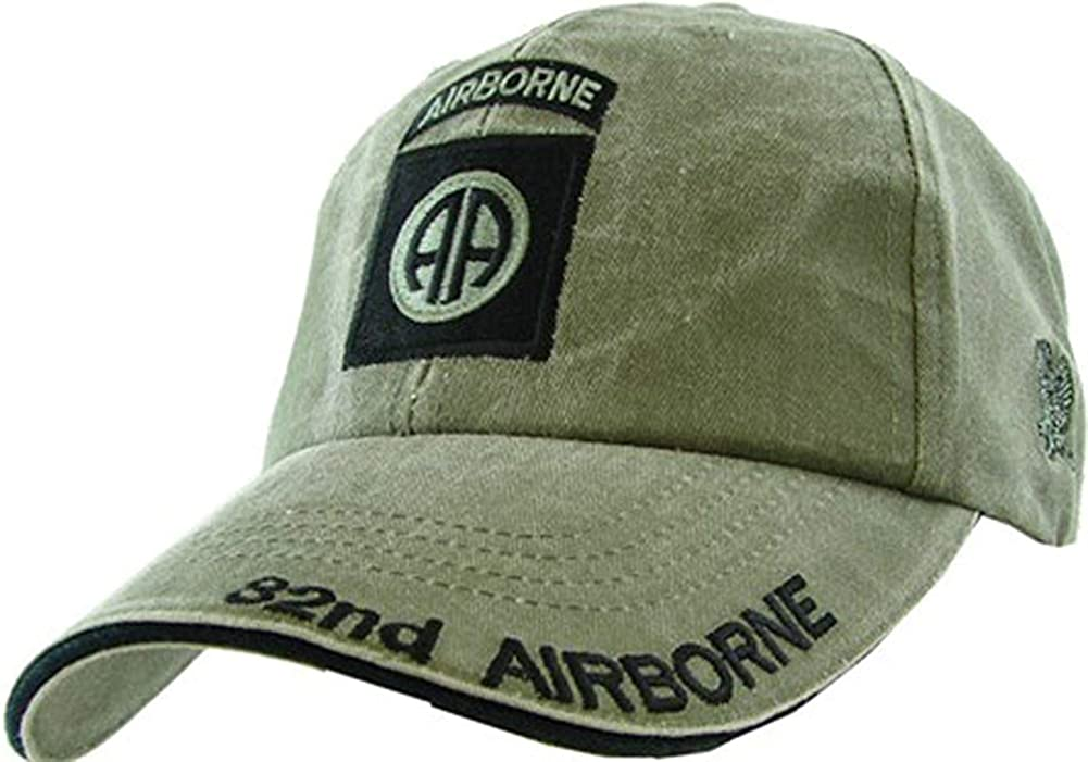 US Army 82nd Airborne OD Green Ball Cap: Baseball Caps: Clothing