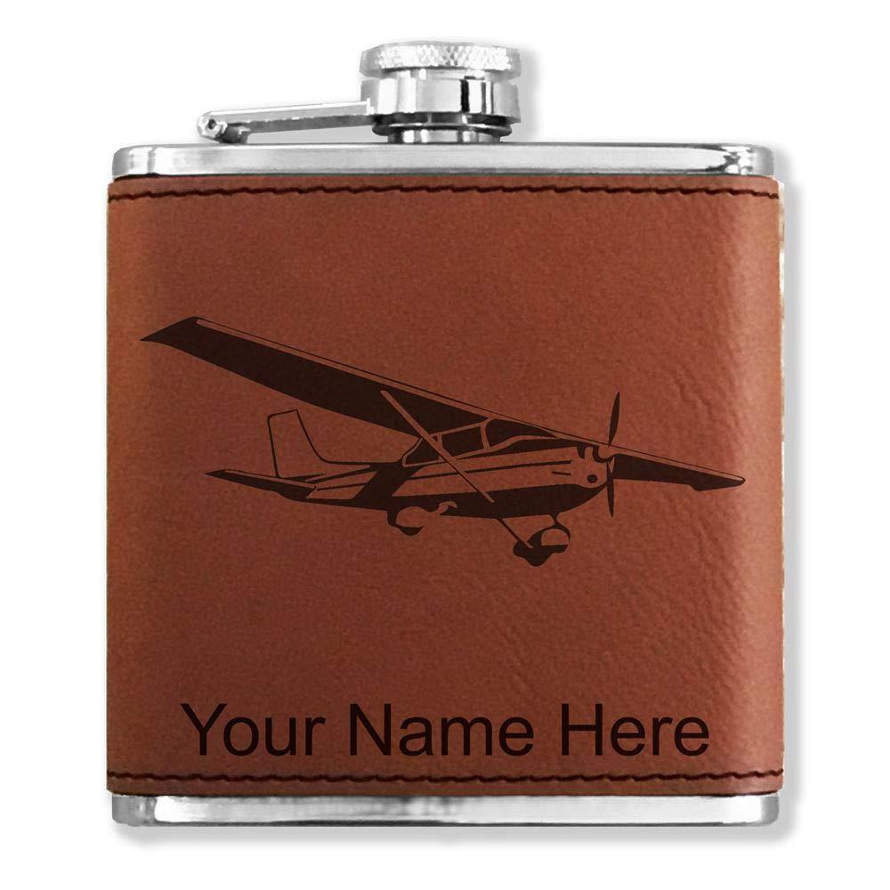 見事な創造力 フェイクレザーフラスコ B013L4KFZ6 – Cessna飛行機 – – カスタマイズ彫刻Included – (ダークブラウン) B013L4KFZ6, ANGLE BANK:9da6a914 --- e-retailmart.com