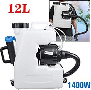 BTTHWR Portable Electric ULV Fogger 12L/16L Intelligent ULV Garden Sprayer/Atomizer Backpack Machine, Atomization Distance 8-10 Meters,12L
