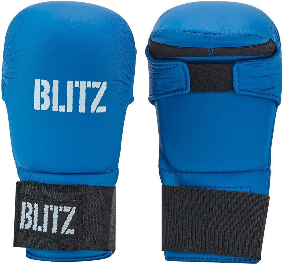 Blitz Sport PU Elite Mitt Without Thumb Blue Medium