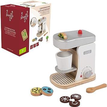 Jouéco 80058 - Cafetera de Madera con Accesorios, Color Negro: Amazon.es: Juguetes y juegos