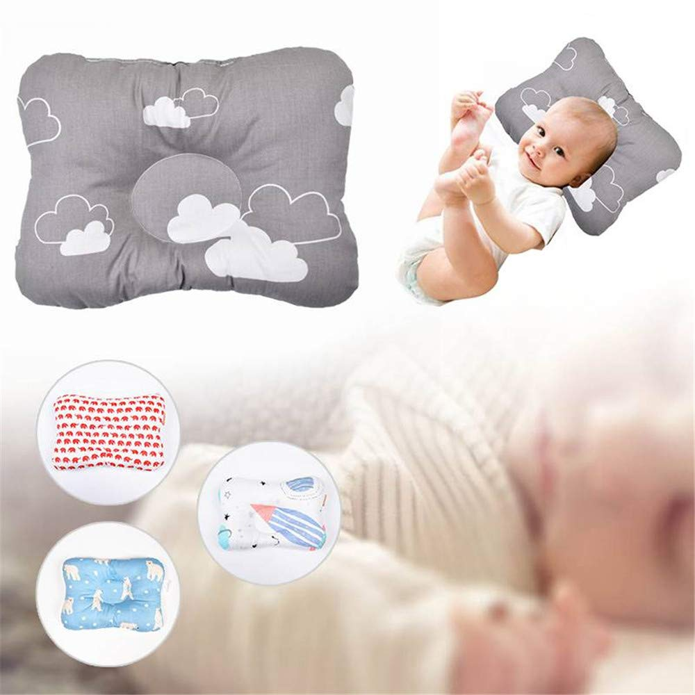 Baby Newborn Infant Pillow Memory Cotton Positioner Prevent Flat Head Anti Roll