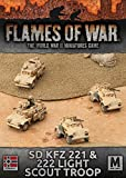 Flames of War 4th Edition German Sd Kfz 221 & 222 Light Scout Troop GBX92