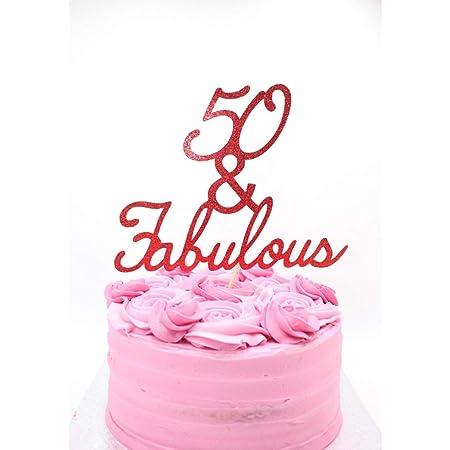 Decoración para tarta de 50 cumpleaños y fabuloso cumpleaños ...