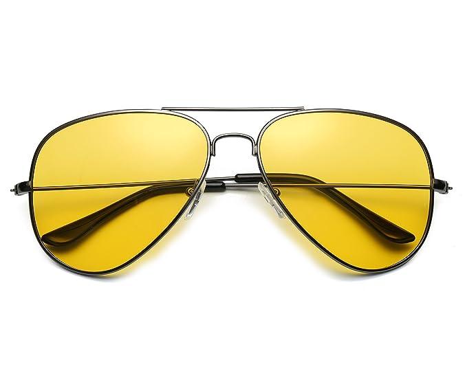 Red Peony Gafas De Sol Amarillas Conducir Nocturnas polarizadas Gafas de sol de aviador Protección UV