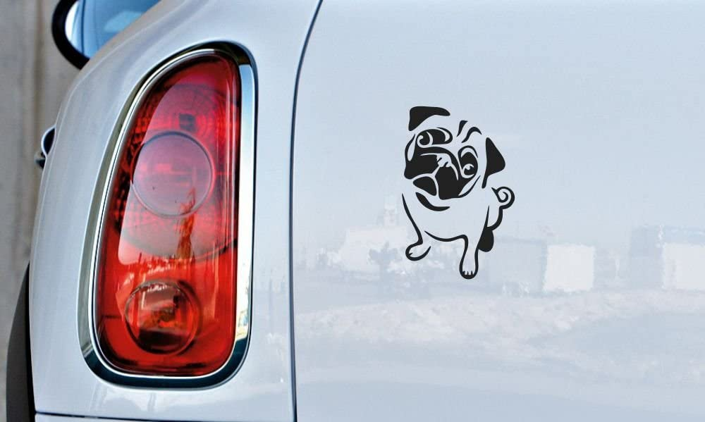 Euro French Bulldog Dog Graphic Decal Sticker Car Wall Oval NOT Two Colors