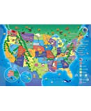 My USA Interactive Talking USA Map for Kids - USA Facts, Trivia and Quiz's - Portable and Easy to Use