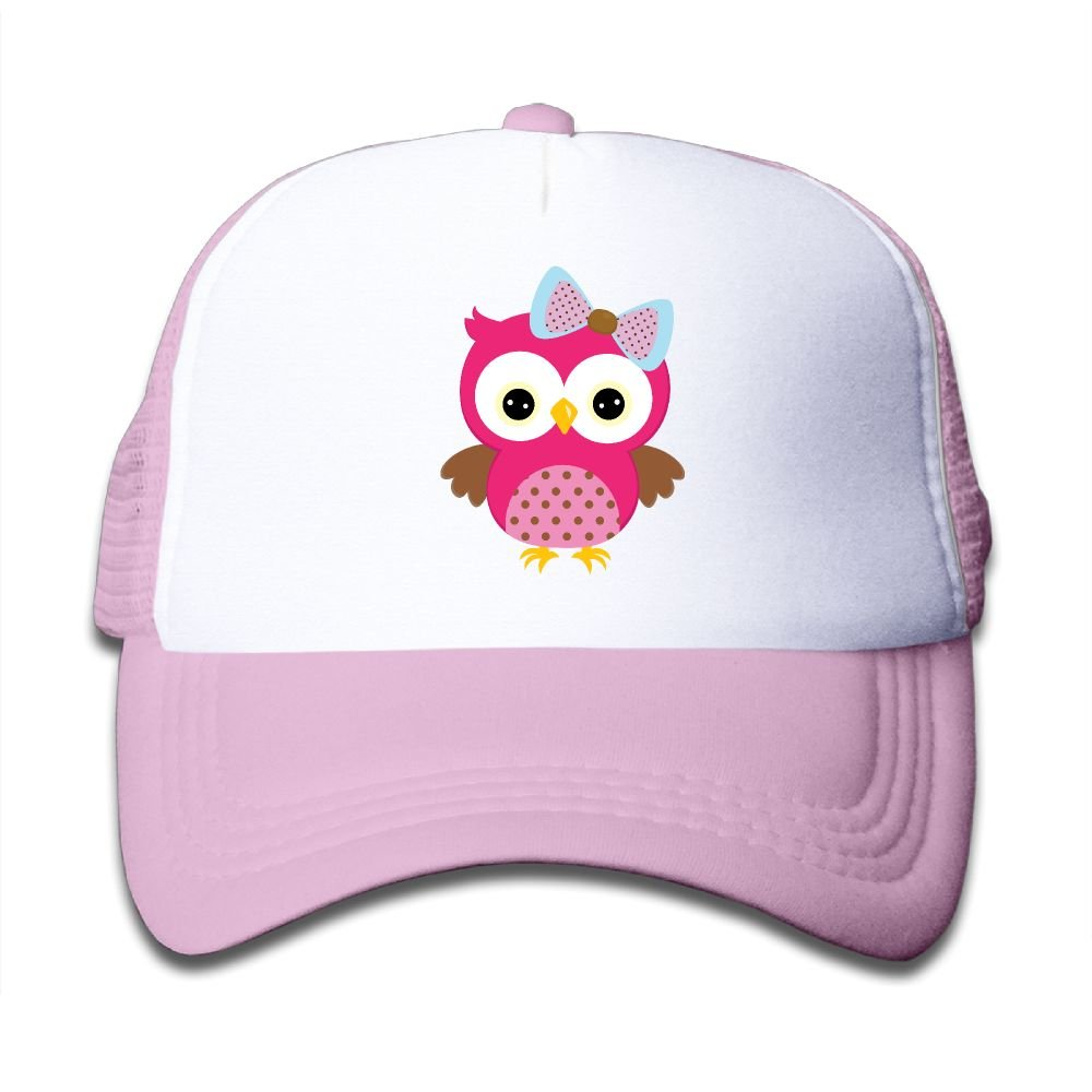 Qiop Nee Pink Mesh Baseball Caps Adjustable Toddler Hat Cute Red Owl L Unisex