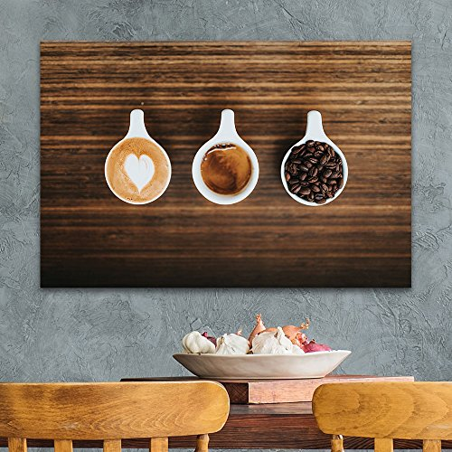 Cups of Coffee and Coffee Beans on Wooden Board Gallery