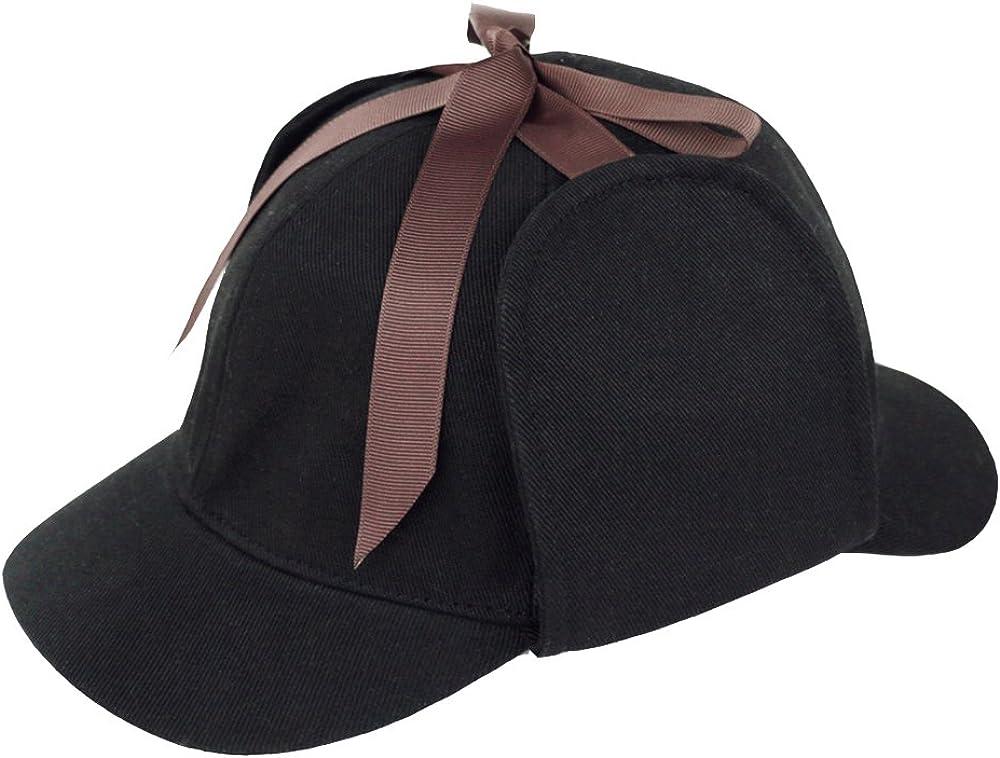 Handmade Sherlock Holmes Hat Deerstalker Hat Detective Cap Unisex Flat Cap