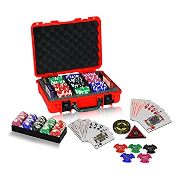 Casinoite Billium Clay Poker Chips Set 300 Card Games at amazon