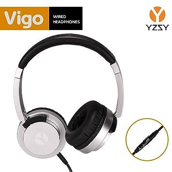 Auriculares diadema YZSY - Vigo. Cascos con micrófono, función manos libres y jack 3.5
