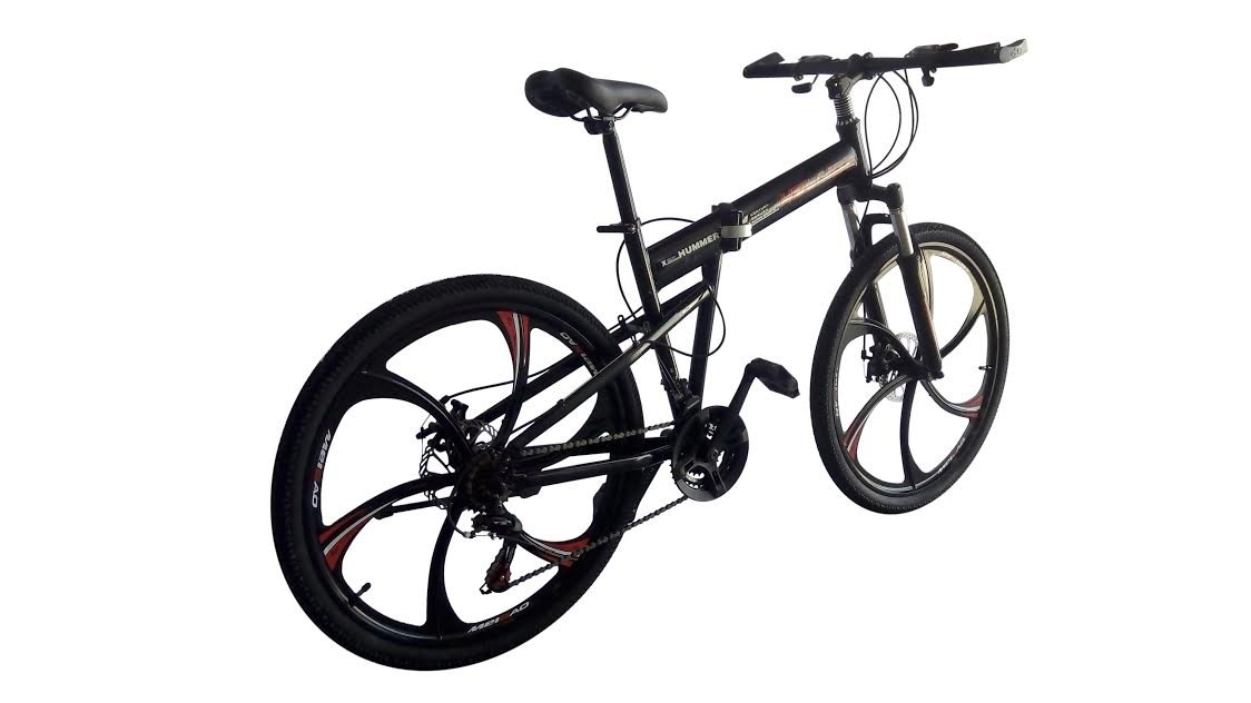 Helliot Bikes HUMMER01 Bicicleta Mountain Bike-Plegable, Unisex Adulto, Negro, Estándar: Amazon.es: Deportes y aire libre