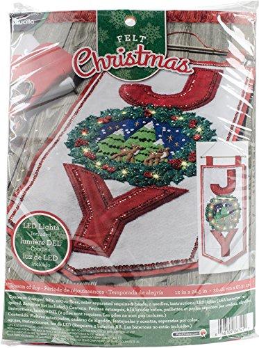 BUCILLA 86741 Felt Applique Wall Hanging Kit Season of Joy, Size 12