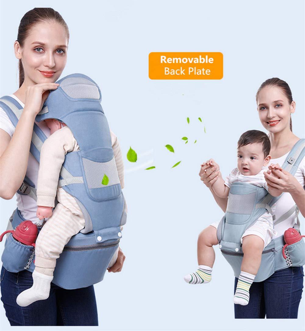 Marca Neotech Care Para ni/ños peque/ños y beb/és Azul Con bolsillo y capucha//reposacabezas de quita y pon Ajustable y transpirable Portabeb/és 100//% de algod/ón con asiento de cadera