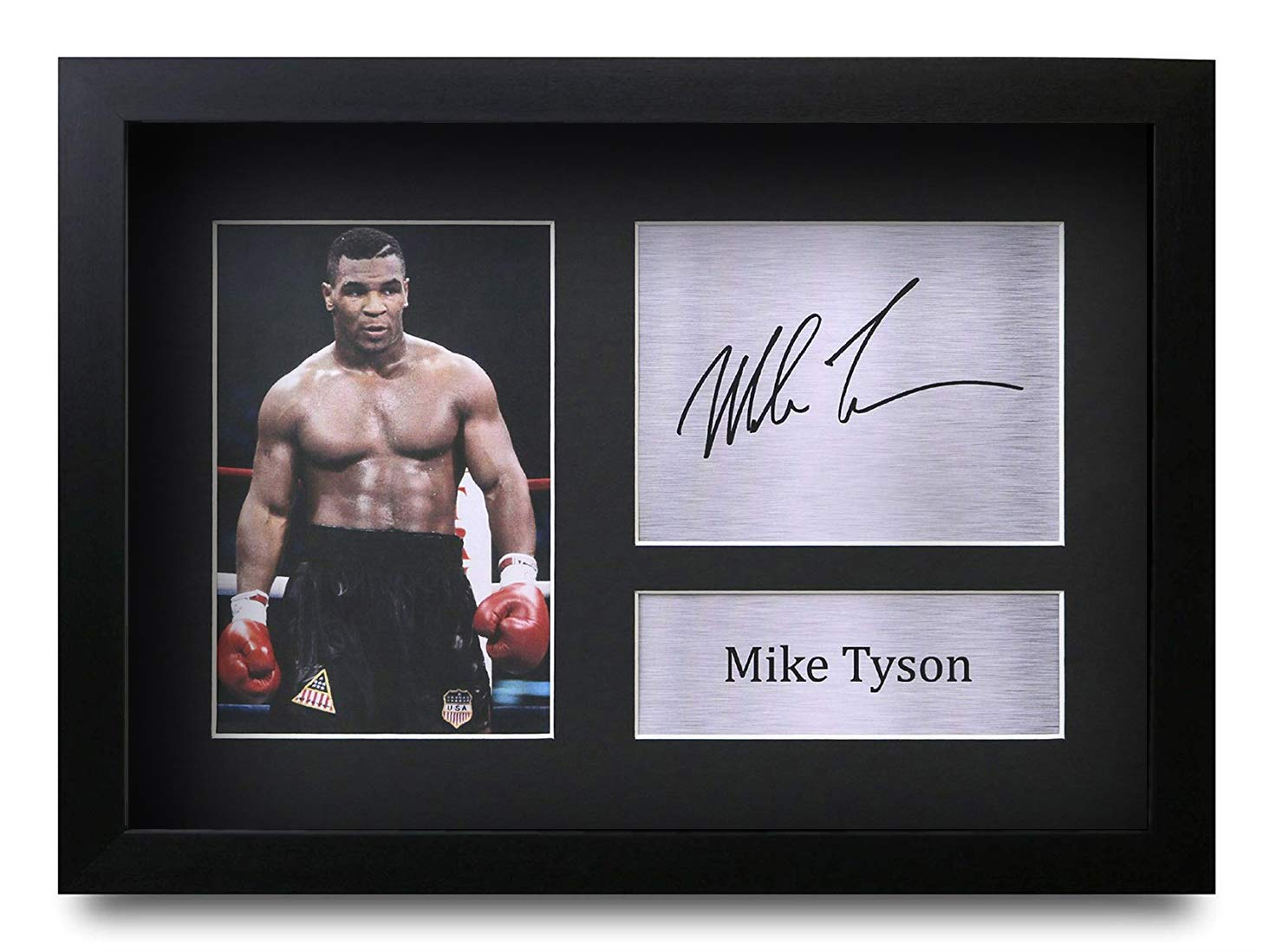 HWC Trading FR Mike Tyson Gift Signed FRAMED A4 Printed Autograph Boxing Gifts Print Photo Picture Display
