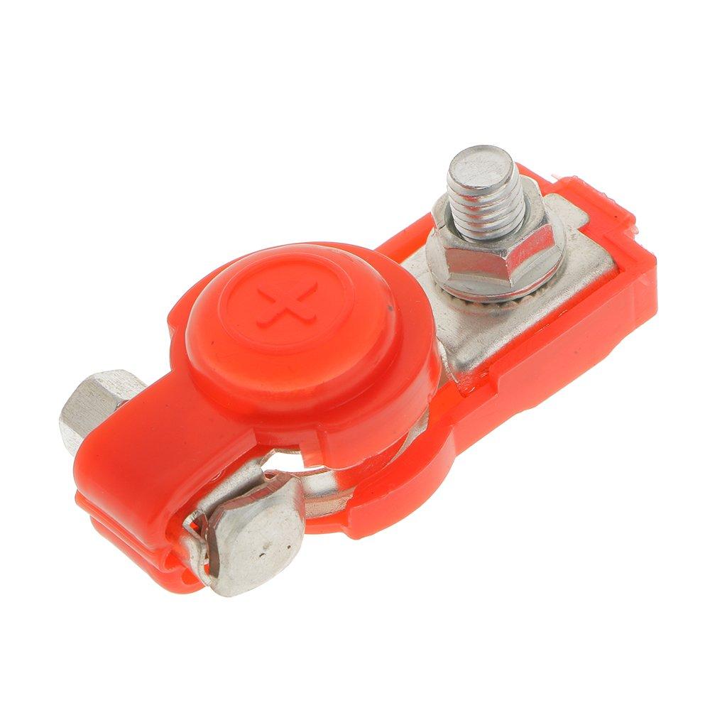 Almencla 2 x KFZ Auto Batterie Schnellklemmen Polklemmen Batterieklemmen Batteriepolklemmen Set Boot PKW Klemmen