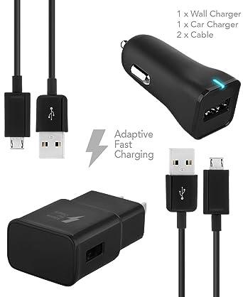 Samsung Galaxy S7 Edge adaptativa Cargador rápido Micro USB ...