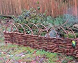 Woven Willow Edging with Arc Top, 16''H x 47''L (12)