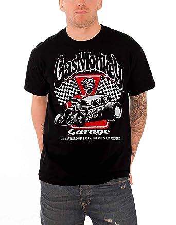 Gas Monkey Garage T Shirt Badass Kustom Builds Flag Logo Oficial ...